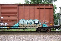 Scor (quiet-silence) Tags: railroad art train graffiti railcar boxcar graff freight fr8 rxs scor srn