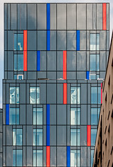 Red White and Blue (Fred ARPS) Tags: windows england london window manmade printed a6 towerhamlets acontrol zothers ilfordsmoothgloss printpapers galerieprestigeglossy