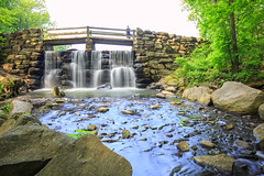 Tibbett's Brook Park (Jemlnlx) Tags: park county new york bridge lake 3 ny water canon eos is waterfall woods stream long state mark iii filter nd shutter l 5d brook usm polarizer yonkers ef f4 circular nys graduated density westchester hoya neutral tiffen nd400 1635mm gnd tibbetts ndx400