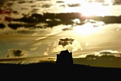 Sunset over St.Catherines (Margaret Preuss-Higham) Tags: sunset architecture walking landscape ancient country hill historical ghostly atmospheric abbotsbury englishheritage stcatherineschapel abbotsburyabbey abbotsburytourism