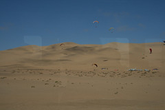 Paragliding from the dunes_Namibia (h_savill) Tags: namibia 2017 holiday vacation february safari africa national park solitaire walvis bay desert valley wildlife blue sky sand dune adventure sport paragliding