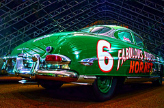 The Greener Hornet (oybay©) Tags: hudsonhornet hudson hornet car automobile classiccar arizona heavymetal chrome bumper rear taillight blue bluecar aplusphoto vehicle outdoor sport auto racing lines windshield old antique classic amercia race barrettjackson scottsdale hudsonitalia italia