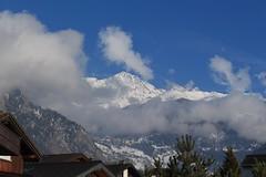 Vollèges (bulbocode909) Tags: valais suisse vollèges valdentremont villages toits maisons paysages hiver neige nuages montagnes nature bleu arbres