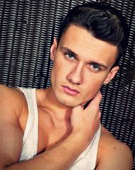 (felix-1997) Tags: guy dude lad male portrait boy cute hot handsome face eyes hair tanktop muscles