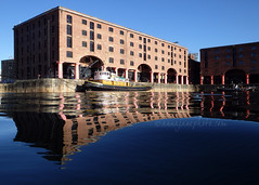 Albert Dock Reflections (.annajane) Tags: albertdock dock liverpool merseyside water reflection warehouse waterfront blue reflections uk england brocklebank boat