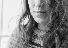 (Mrsbridges2013) Tags: expression portrait light natural hair texture messyhair messy bw blackandwhite sonya7ii sony