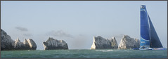 Concise Passes the Needles (rogermccallum) Tags: sail sailing solent roundtheisland trimaran needles rocks