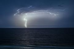 Night Light (lightonthewater) Tags: lightning lightonthewater storm sky thunderstorm ocean gulfofmexico waves water floridathunderstorm