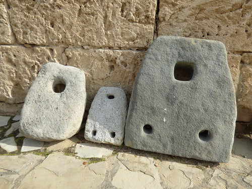 Girne - castle stone anchors