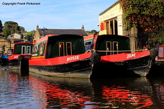 Jack, Rosie and Jim (Lord Skully) Tags: canalbasin barges leisurecraft theboathouse bar cafe boathire penninecruisers waterfront waterway watercourse watercraft water red reflections september 2016 frankpickavant bluesky foilage buildings greenery britishisles britain unitedkingdom uk europe england geotagged canon waterside inlandwaterway outdoors outdoor colourful tree cravendistrict markettown autumn autumnequinox daytime moorings boattrips traditional northofengland canalcruises guidedtours town urban dayboats canalside ripples angleterre inghilterra 英国 英國 inglaterra イングランド hais boats