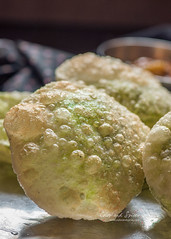 Koraisutir kochuri(green pea stuffed flat bread) (color and spices) Tags: greenpea flat bread bengali cuisine