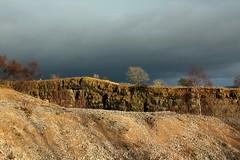 Stormy Sky Coming (TR7 man) Tags: stormy rain quarry trees weather yorkshire england light dark darkclouds winter