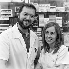 The Pharmacists (Photoburglar) Tags: blackandwhite valencia pharmacists pharmacy farmaceuticos spain espana nikon d610 travel portraits