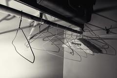 What is left behind? (citrusjig) Tags: pentax k3 sigma1020mmf456 blackandwhite toned manualfocus hangers closet