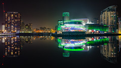 The Lowry Theatre, City Lofts and NV Buildings, North Bay/Huron Basin/Eerie Basin, Salford Quays. (G-WWBB) Tags: lowry lowrysalfordquays lowrytheatre salfordquays nvbuildings nvbuildingssalfordquays citylofts northbay huronbasin eeriebasin reflections reflect waterfront mist manchester