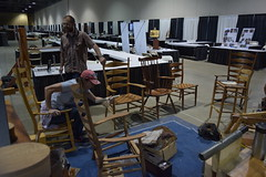 Rocking Chairs (jjldickinson) Tags: nikond3300 105d3300 nikon1855mmf3556gvriiafsdxnikkor promaster52mmdigitalhdprotectionfilter longbeach long beach convention center dtlb worldwoodday wood furniture chair rockingchair