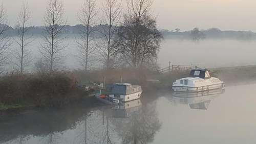 River mist Beccles Suffolk uk