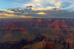 DSC_0330-332 powell point sunset hdr 850 (guine) Tags: grandcanyon grandcanyonnationalpark canyon rocks clouds sunset hdr qtpsfgui luminance