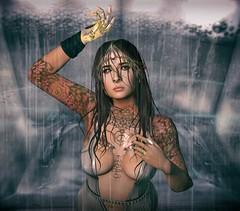 2. Pyrophoric Materials, or Pisces on the cusp of Aries (akiko.thursday) Tags: water wet anc secondlife sl vilecult genesis genesislab maitreya enfantterrible spellbound argrace wethair bento piercings tattoos rain rainy