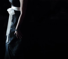 The White Bow (coollessons2004) Tags: woman krystalsmith mystery mysterious dress bow