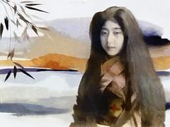Japanese woman (skizo39) Tags: woman japanese japonesa collage layers art digitalprocessing digitalart digitalpainting photomanipulation colors colorful graphical design creation artistic