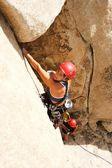 Female Climber (ericfoltz) Tags: female woman athletic agile skill strength danger risk sport climbing ascend route rope extreme rock outdoors recreation leisure travel tourism vacation park desert