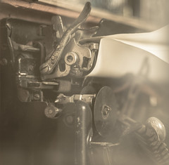 (C-47 [On the move]) Tags: monochrome mon steel madeofmetal madeofsteel paper machine contraption tone past