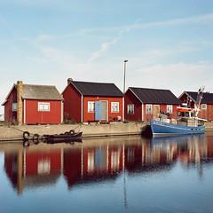 Gräsgårds Hamn - Porta 160vc (magnus.joensson) Tags: sweden swedish öland fishing boat hasselblad 500cm zeiss planar 100mm cf handheld kodak porta 160vc exp c41 6x6