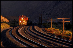 Cameron, CA ~ Sunset (golden_state_rails) Tags: bnsf santa fe atsf warbonnet tehachapi pass cameron ca california cache creek narrows canyon