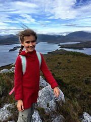 Zoe atop Mt Beattie.