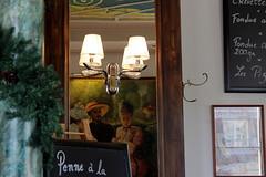 Café Mozart (overthemoon) Tags: switzerland suisse schweiz svizzera romandie vaud lausanne saintfrançois galeriesducommerce conservatoire de musique interior architecture café mirror restaurant painting lamp blackboard posters column décor patère coathook utata:project=tw571