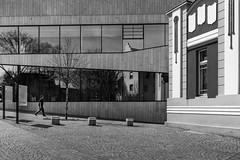 Old vs New (christianberthold3) Tags: feldkirch architecture architektur monochrome street