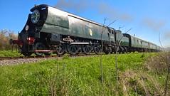 34070 Manston heads to Corfe castle 02/04/16 (william_peckham) Tags: 34070 manston corfecastle swanage swanagerailway strictlybulleid railway steam train locomotive