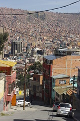 La Paz, Bolivia (ARNAUD_Z_VOYAGE) Tags: street city bridge our people mountains building cars colors architecture lady america de landscape la town peace view place pentax market south capital paz bolivia el government alto department mirador altiplano highest marka kx nuestra señora illimani administrative aymara chuquiago viacha chuqiyapu