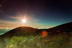 Sunset above the clouds (MarkE_T) Tags: sunset sky holiday hawaii rocks volcanic maunaloa smcpentaxda1645mmf4edal pentaxk5