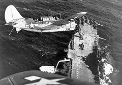 Helldivers over Hornet (CV-12), 1945