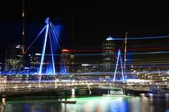 Wynyard Crossing (Brian Aslak) Tags: bridge light newzealand night noche auckland aotearoa   uusmeremaa wynyardquarter naujojizelandija wynyardcrossing jaunzlande