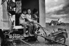 Les voyageurs de la campagne (johann walter bantz) Tags: nikond4s game children child enfants gitane documentary documentaire reportage roms homelesspeople caravane normandie normandy 2870mm blackwhite social menschen
