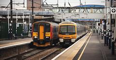 153310 & 365510 Peterborough 31/05/2014 (Flash_3939) Tags: uk station train fcc may rail railway emu 31 emt peterborough 2014 eastcoastmainline ecml class153 firstcapitalconnect class365 eastmidlandstrains 365510 153310 365540 31052014