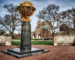 Aero Memorial (mhoffman1) Tags: park sculpture philadelphia bronze globe memorial unitedstates pennsylvania basilica sony wwi worldwari parkway nik philly hdr benfranklinparkway manship photomatix colorefexpro a7r aviatorpark
