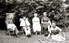 Owen Sound, 1954 (gregorywass) Tags: family summer bw white ontario black film picnic 1954 1950s sound owen