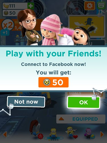 Despicable Me: Minion Rush Social: screenshots, UI