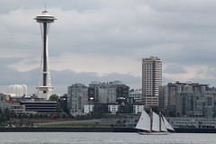 Seattle from the water (Jess in KC) Tags: seattle skyline boat washington spaceneedle