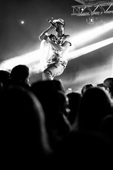 Dani M Live (uffe13) Tags: park summer white black dani m take hip hop blacknwhite konsert vxj consert folkets danim