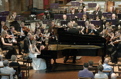 DSCN0080c Arta Arnicane plays the first concert performance of Piano Concerto No. 2 by William Alwyn with Ealing Symphony Orchestra. Conductor John Gibbons. Leader Peter Nall. St Barnabas Church, Pitshanger Lane, London W5 1QG. 21st June 2014
