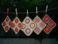 potholders (Vecilija's Corner) Tags: handmade crochet cotton potholders grannysquares