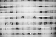 Glói (Dalla*) Tags: boy portrait white black window glass stripes layered wwwdallais