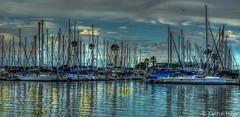 Oceanside Harbor Sunrise - 13348_Tonemapped (www.karltonhuberphotography.com) Tags: light sky bird clouds sunrise reflections boats harbor morninglight seagull peaceful calm southerncalifornia sailboats 2014 oceansidecalifornia nikond7000 karltonhuber
