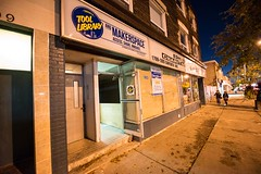 Front of east-end Tool Library, 1803 Danforth Ave
