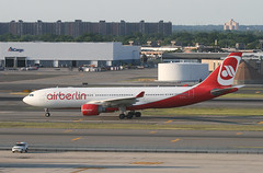 AIR BERLIN, Airbus A330 (A330-200), D-ALPI, at JFK, New York, USA. June, 2014 (Tom Turner - SeaTeamImages / AirTeamImages) Tags: nyc red usa newyork crimson tarmac plane scarlet airplane airport ramp unitedstates taxi aircraft aviation transport jet twin jfk passengers queens transportation airline airbus pax passenger airways airlines bigapple kennedy a330 airliner jetplane johnfkennedy portauthority taxiing airberlin taxiway a330200 airbusa330 tomturner dalpi